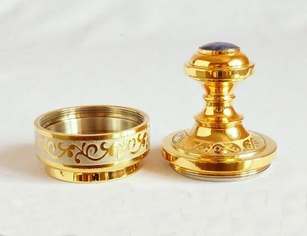 золотая оснастка для печати