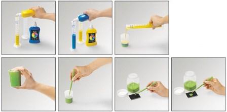 Комплект для создания штемпельной краски собственного цвета