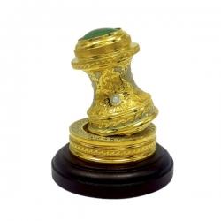 Золотая оснастка с малахитом