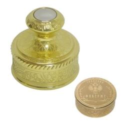 Подарочная печать Фаберже. Латунная с Золочением (999,9) - 9 мкм, никелирование - 20 мкм. Упаковано в бархатный мешочек