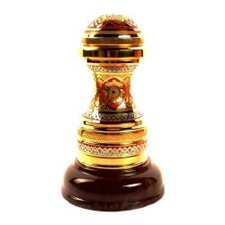 Печать подарочная на каменном основании. Золото, никель, яшма, эмаль.  Высота (общая) 13 см, Ø подставки 8 см. Подарочная деревянная коробка с шелковым ложементом.