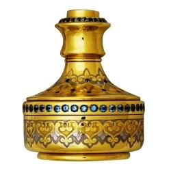 Полуавтоматическая печать с голубыми топазами Латунь с голубыми топазами с  Никелем и Золотом (999,9). Высота 8 см. Подарочная коробка .