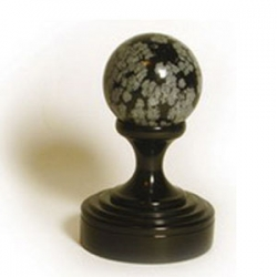 Снежный обсидиан ( с черным покрытием)