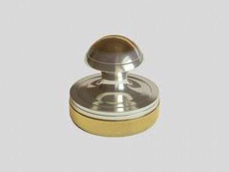 Ручная металлическая оснастка 24-1 для печатей врача, никель, золочение.