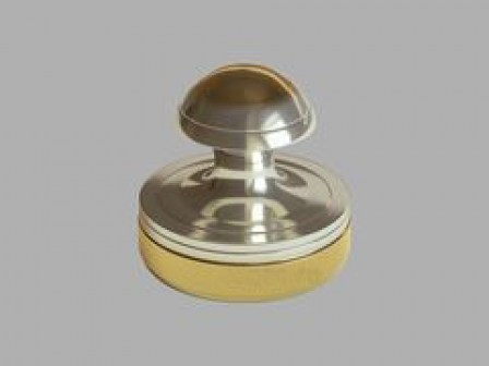 Ручная металлическая оснастка 24а-1 для печатей врача, никель, золочение. d25 мм.