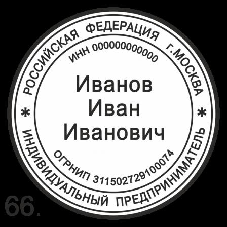 Шаблон печати ИП  (ип66)