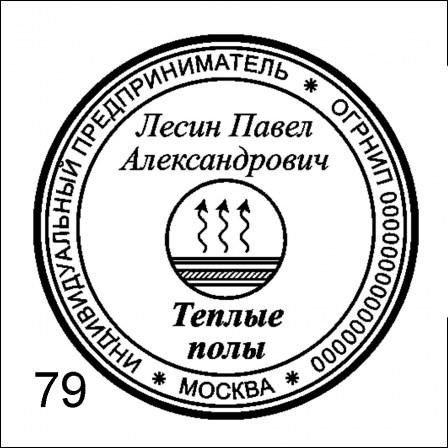 шаблон печати ИП 79